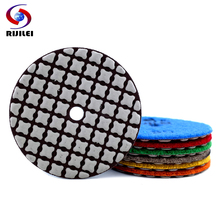 RIJILEI 7PCS Super 3Inch dry polishing pads 80mm Sharp type Marble diamond pad for concrete floor rostone ceramic tile