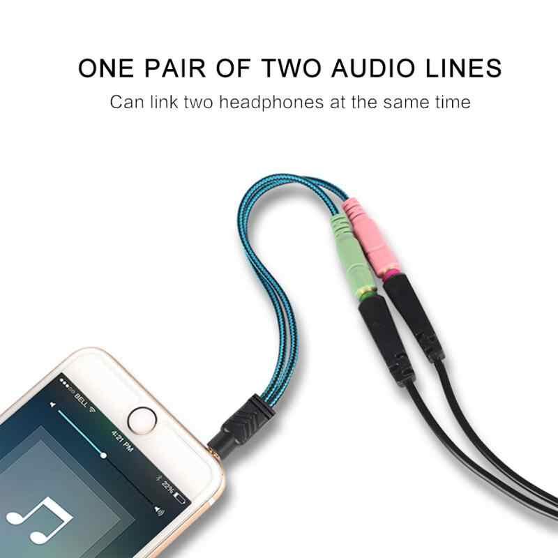 3.5mm שקע כבל אוזניות מתאם Y ספליטר אודיו 2 נקבה 1 זכר אחד אוזניות אוזניות עבור מחשב נייד PS4 טלפון Xbox TSLM1