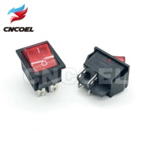 2pcs KCD4 Rocker Switch ON-OFF 2 Position 4 Pins Electrical equipment With LED Light Power Switch 16A 250VAC/ 20A 125VAC kcd4 203 20a 250vac 30x22 waterproof rocker switch 6pin dpdt on off on 12v 220v red green led light rocker switch