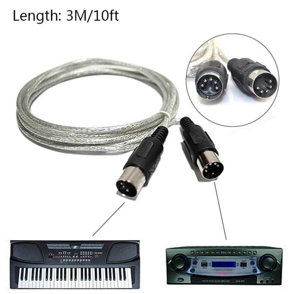 3 M/10ft MIDI הארכת כבל זכר לזכר 5 פין תקע מחבר סינתיסייזר פסנתר Teclado מוסיקלי Midi בקר פסנתר מקלדת