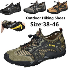 Sneakers Hiking-Shoes Summer Outdoor Mesh Suede Quick-Dry Breathable Men 48