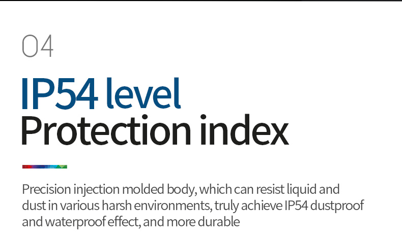 IP54 level protection index