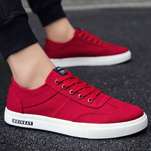 Canvas sneakers men summer breathable shoes 2020 fashion classic flat round toe man's