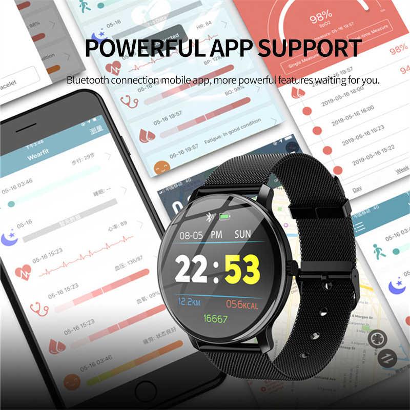 GEJIAN mode montres intelligentes Bracelet Bluetooth étape fréquence cardiaque pression artérielle oxygène sommeil surveillance étanche Sport montre