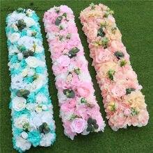Arrangement de fleurs artificielles Daliha fait maison bon marché, décor pour la maison, arc de mariage de noël, événement, rangée de fleurs en soie
