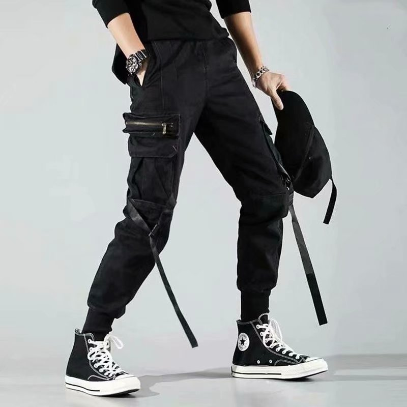 Super Fire Pants National Trends Spring And Autumn INS Enshadower Beam Leg Large Pocket Casual Loose-Fit Popular Brand Workwear
