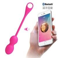 App Control Vibrating Kegel Balls, Bluetooth Connect Wireless Remote Vibrator, 12 Speed G Spot Bolas Chinas Vaginal Sex Toys.