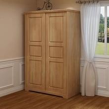 Wardrobe Wood with Drawers Multifunctional Sliding-Door Children's Bedroom Rubber Locker