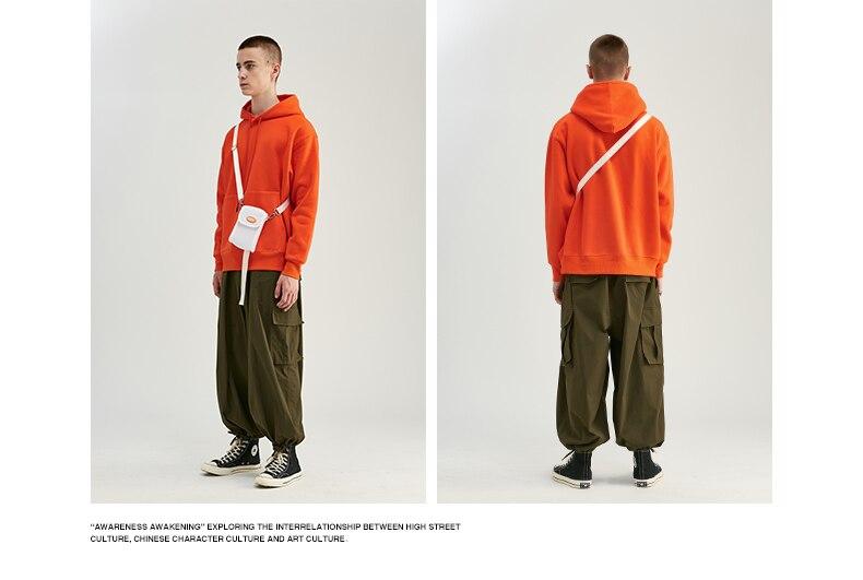 Unisex Thick Fleece Hoodies Hip Hop Pure Hoodies Thick Velvet Fabrics Winter Hoodies