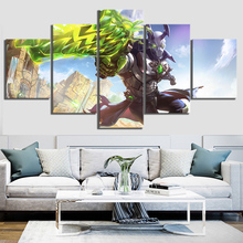 Printed Wall Art Poster Modular Canvas Pictures 5 Pieces Heads Will Roll Paladins Cartoon Game Paintings Frame Decor Living Room