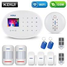 KERUI W20 스마트 알람 시스템 보안 홈 알람 Residencial 와이파이 GSM 무선 2.4 인치 터치 패널 도난 경보 시스템