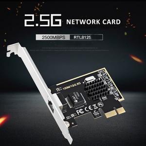 Image 5 - DIEWU Game PCIE card 2500Mbps Gigabit Network Card 2.5G RJ45 Network Adapter PCIe1X lan Card with Realtek8125