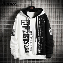 Hoodies masculinos outono inverno velo hip hop japonês streetwear impresso hoodie masculino retalhos moletom masculino transporte da gota