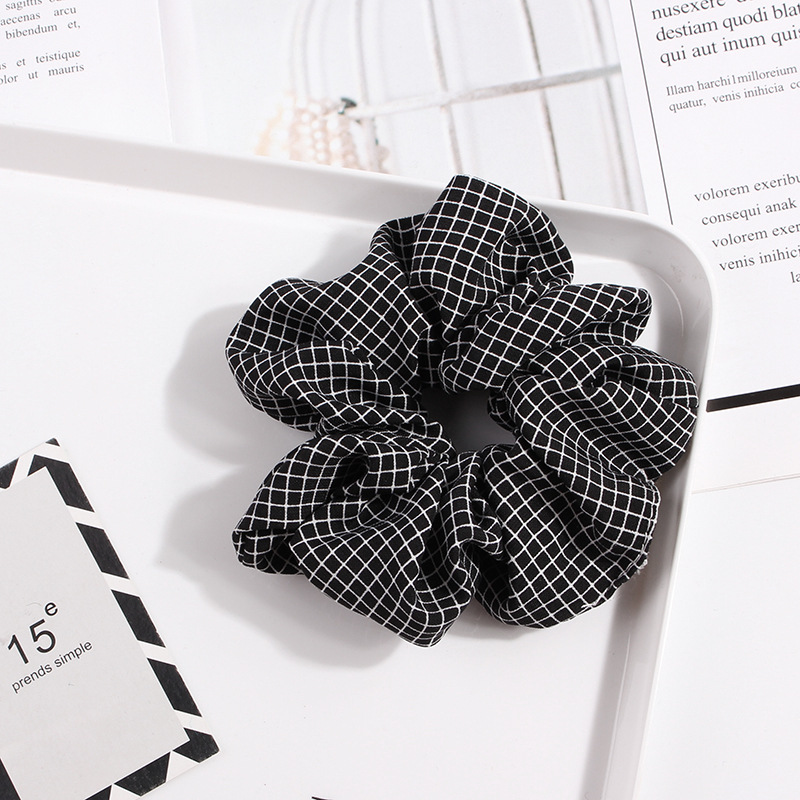 New Striped Hair Rope Ponytail Holder Hair Ring Sweet Plaid Elastic Scrunchies Ties Hair Bands For Girls Women Hair Accessories