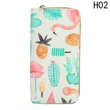 Fashion Woman Wallet Fruit Yellow Animal Pattern Long Wallets White Pink Color Money Bags Cute Pocket Practical Purse