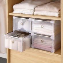 Boîte de rangement en plastique pliable, caisse épaisse, tiroirs pour vêtements, chaussures, organisateur transparent pour la maison, gain de place, accessoires