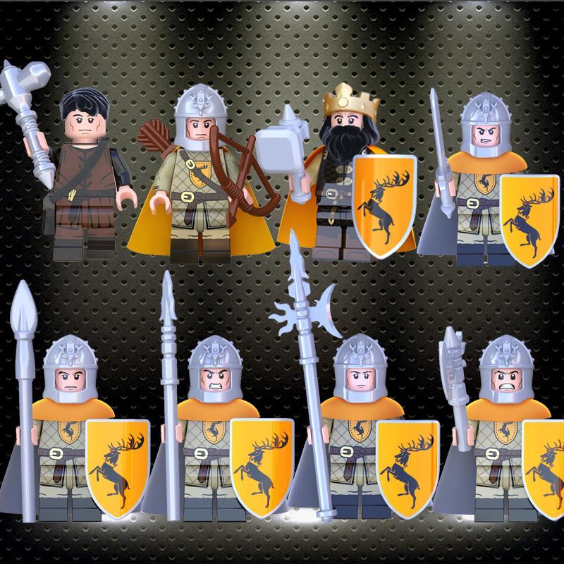 21PCS//LOT LEGO Set Game of Thrones Eddard Stark Spear Sword Figures Blocks Toys