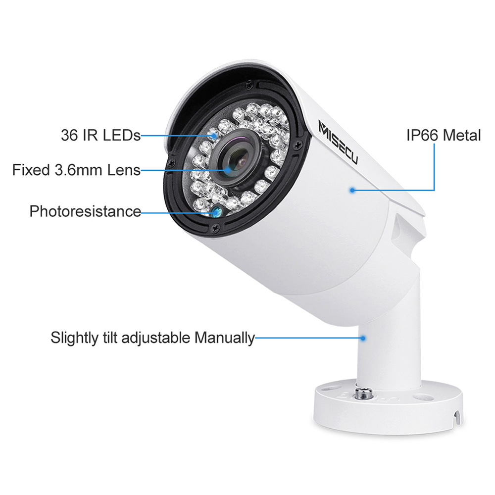 Image 5 - MISECU H.265 Full HD 2MP 5MP Security Audio IP Camera 1080P Metal Waterproof POE ONVIF Bullet Outdoor CCTV Surveillance Cameraip cameraonvif ip cameraonvif ip -