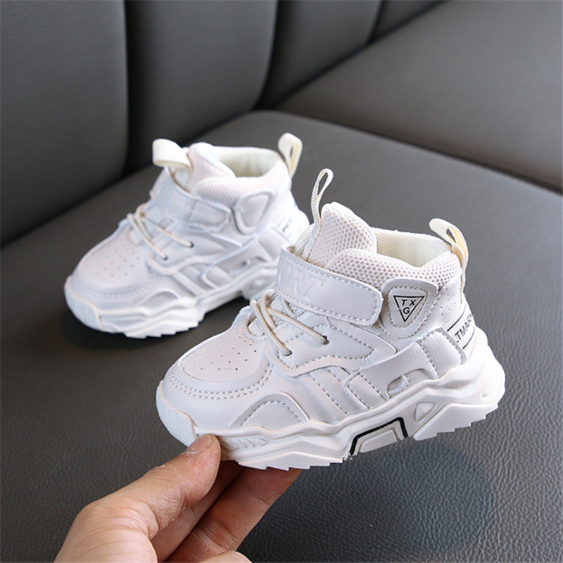 DIMI 2020 Autumn Baby Girl Boy Toddler Shoes Infant Casual Walkers Shoes Soft Bottom Comfortable Kid Sneakers Black White