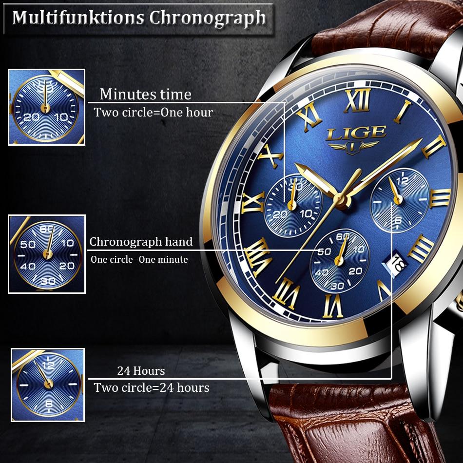 Hecdc829719c84af9a544c742b45d8474K Watches Mens 2019 LIGE Top Brand Luxury Green Fashion Chronograph Male Sport Waterproof All Steel Quartz Clock Relogio Masculino