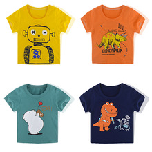 Tee Clothing T-Shirt Toddler Girls Baby Boys Summer Cotton Cartoon Short Top Print Kids