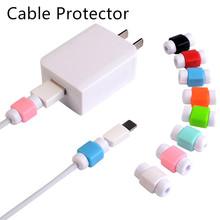 Śliczne słuchawki kablowe Protector USB kolorowa ładowarka danych kabel do słuchawek osłona Protetor ochrona ładowarka kablowa Protector tanie tanio centechia CN (pochodzenie) SILICONE support