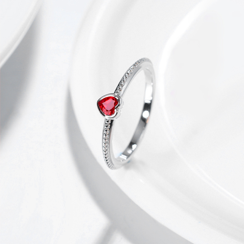 ruby zircon ring 925 silver jewelry for women 2