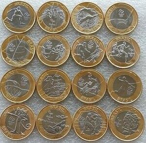 Набор 16 шт Бразилия 1 BRL монеты Рио-де-Рио игры 2016 латинская Южная Америка оригинальная монета для коллекции