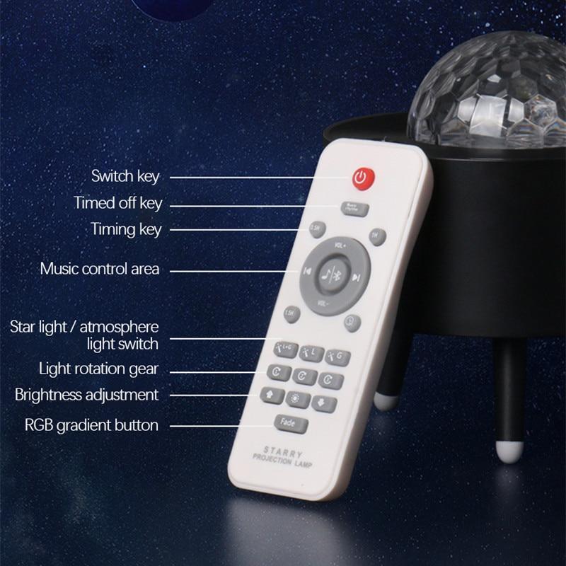 estrelado projetor galaxy night light com oceano 04