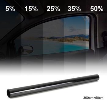 Ciemny czarny folia na okna samochodu szkło 5 -50 rolka lato samochód Auto okna domowe szkło barwienia ochrona przeciwsłoneczna tanie i dobre opinie DEDOMON 10 -20 CN (pochodzenie) 0 2cminch 300cminch Boczne Szyby Boczne okno ochrona słoneczna 0 2kg Window Foils Black