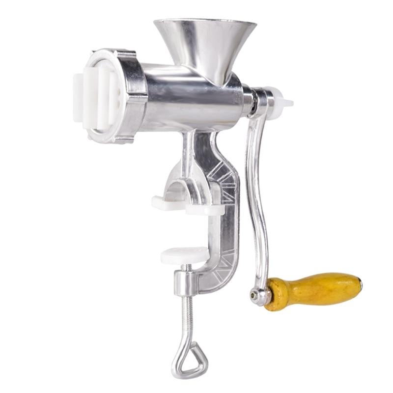 XMX-Manual Meat Grinder Aluminum Alloy Noodles Grinding Machine Dishes Handheld Making Gadgets Mincer Pasta Maker Meat Slice Wit