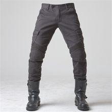 UGB06-Pantalones vaqueros de Motocicleta para Hombre, Jeans con plumas, versión estándar, para montar en Moto, Verano