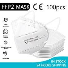 Máscara de rosto kn95 ffp2 máscara facial kn95 máscaras de filtração máscara de poeira máscara de boca proteger anti-gripe mascarillas masque tapabocas