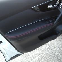 Morbido Porta In Pelle Bracciolo Pannello di Copertura Per Nissan Qashqai J11 2016 2017 Porte Interne Bracciolo Copertura di Superficie Per Qashqai 2018 2019