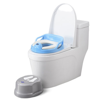 3-in-1 Toilet For Children Baby Seat+Toilet seat+ Toilet Seat Cushion Fashion Bebe Potties&Seats Baby Stool Footstool for Toilet