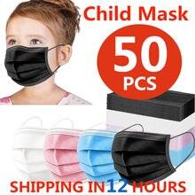 Máscara protetora descartável da criança da máscara da criança do transporte rápido de 24h 10 pces-50 pces 3-camada descartável não-tecido da tela máscara da proteção da criança