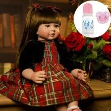 60cm Bebes muy grandes renacido niña pequeña l. o l muñeca de silicona de vinilo adorable realista bebé Bonecas reborn girl chico menina