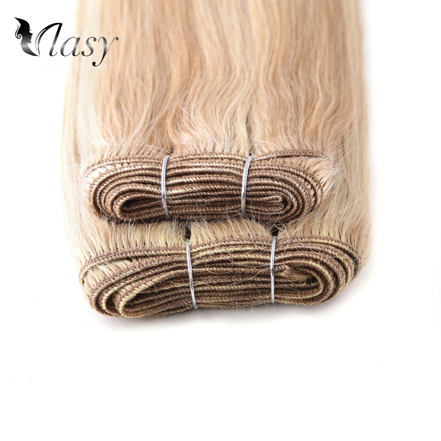Vlasy 12 Inch Double Drawn Natural Straight Bundles Weave Highlight Piano Color Remy Hair Extensions 110g/pc