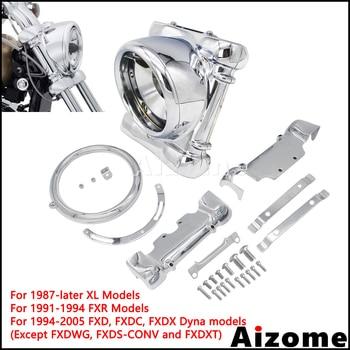 Motorcycle Headlight Surround Nacelle Kit For Harley FXR Dyna Sportster Low Rider Super Glide Custom 67971-04 Headlamp Nacelle