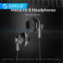 ORICO Wired In Ear Mental Earphone High Bass Sound Dual Stereo Sport Gaming Music Earphone for XIoami Mi iPhone with Microphone все цены