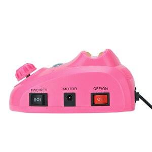 Image 4 - 35000/20000 RPM elektryczna wiertarka do paznokci zestaw urządzeń frez Manicure Pedicure taśmy szlifierskie zestaw zmywacz żelu do paznokci sprzęt