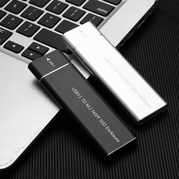 Type C to B Key NGFF SSD Case M.2 Aluminum USB 3.1 Gen 1 External SSD Enclosure for Household Computer Accessories