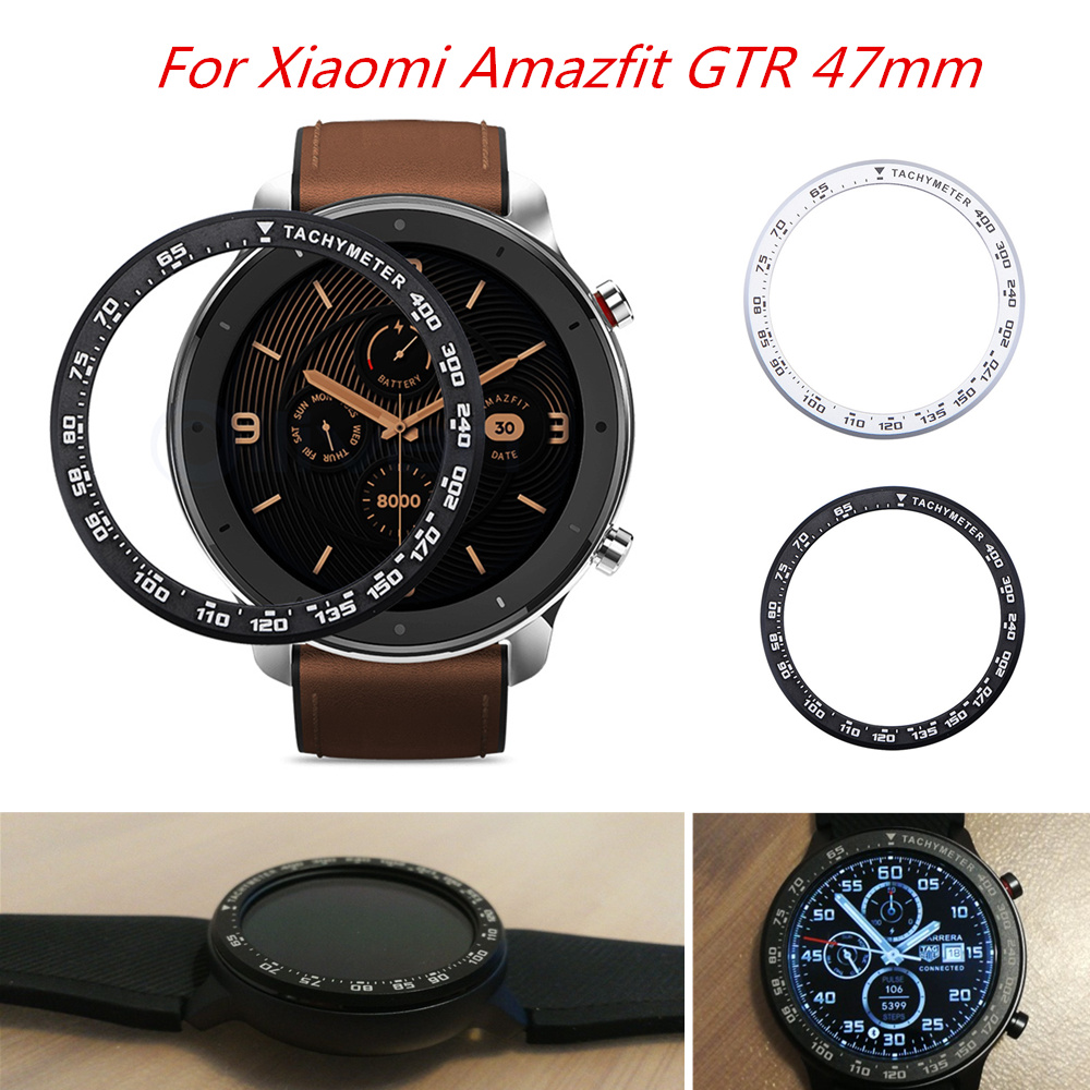 For Xiaomi Amazfit GTR 47MM Metal Bezel Ring Outer Edge Cover Dial Scale Speed Tachymeter Case For Amazfit GTR Watch Protector