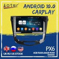 AOTSR PX6 For Nissan X Trail xtrail X T 2014 2018 4+64GB 2 DIN Android 10.0 Car GPS Navigation Car radio mulitmedia player