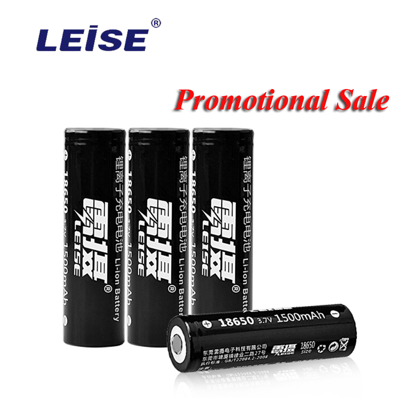 Promotional Sale 1500 mAh 18650 Battery 3.7v For Ecig Cigarette Power Bank Leise Rechargeable Li-ion Lithium Batteries