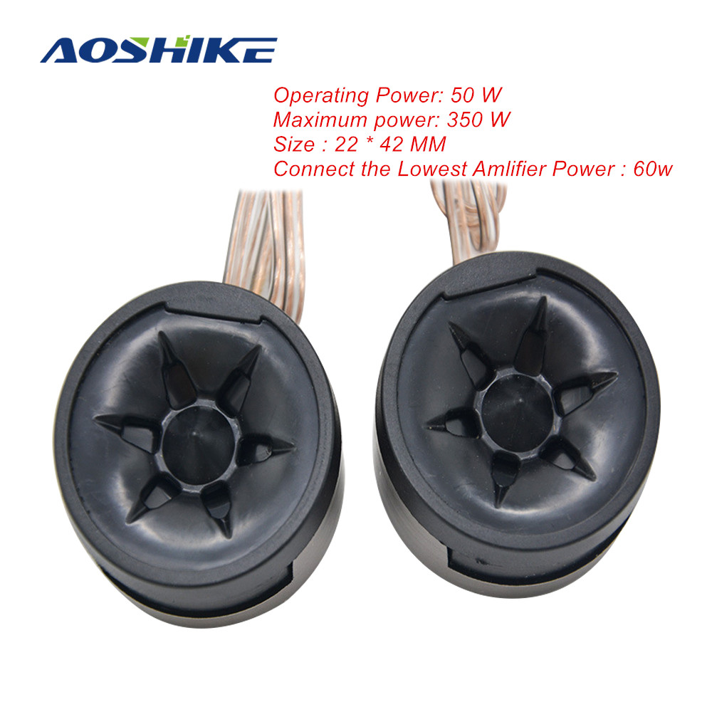 AOSHIKE 2PCS Small TX35 350W 40MM Car <font><b>Speaker</b></font> Car Tweeter Super Treble Aberdeen Triple Head Piezoelectric Triple Maximum Power image