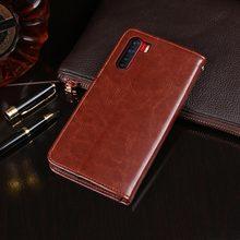For Oppo F15 Case 6.4 inch Flip Wallet Business Le
