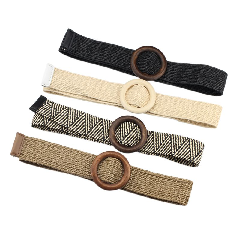 New Practical Alloy Buckle Thin Artificial Leather Women Waist Belts Stretch Fashion Daily For Dress Elastic Skinny Waistband