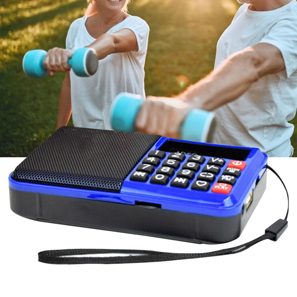 Multifunctional With Speaker Wireless Digital Music TF Card Boombox Easy Operation Home FM Radio Elder Button MP3 Player