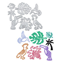DiyArts Birds Metal Cutting Dies Leaves Flower DIY Etched Dies Craft Paper Card Making Scrapbooking Embossing New diyarts heart shape flower metal cutting dies lovebird diy etched dies craft paper card making scrapbooking embossing new 2019